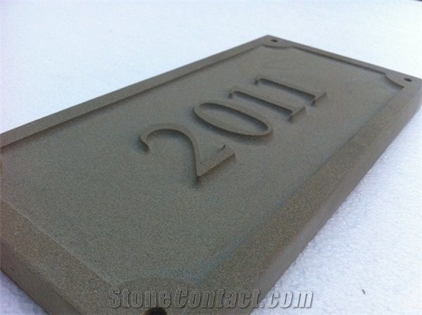 Relief Engraved Slate House Sign 300mm//200mm//20mm
