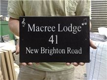 Riven Slate Sign, Welsh Black Slate Sign