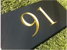 Welsh Blue Slate House Sign, Heather Blue Slate