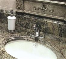 Rainforest Brown Marble Vanity Top from Qatar-202027