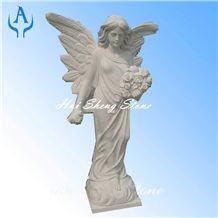Granite Grey Sculpture Angel, G603 Grey Granite