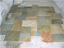 Gold Yelow Building Slate Tile