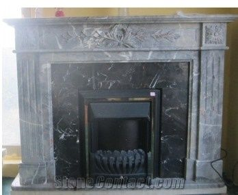 Taly Grey Marble Fireplace Mantel From China