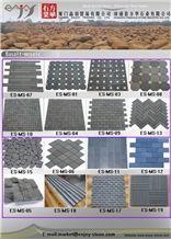 Esite Fujian Grey Basalt Mosaic Tile for Interior Decoration / Floor Mosaic / Wall Mosaic / Grey Basalt Mosaic