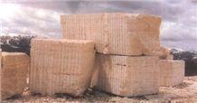 Idaho Travertine Blocks, Continental Buff Travertine Block