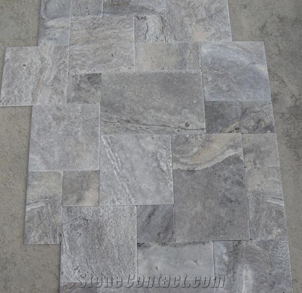 Silver French Pattern Set Travertine From Turkey
