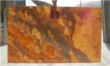 Lava Red Onyx Slabs