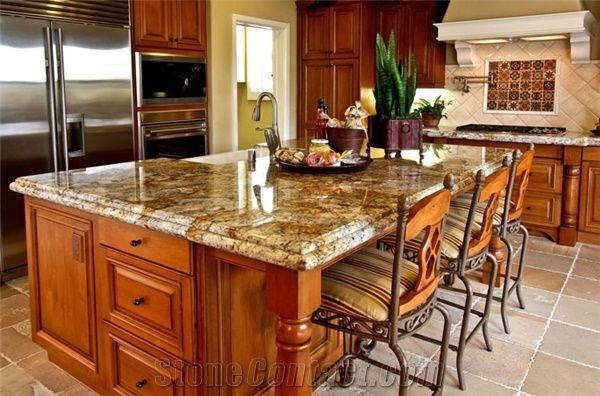 Golden Buzios Granite Kitchen Island Top Golden Buzios