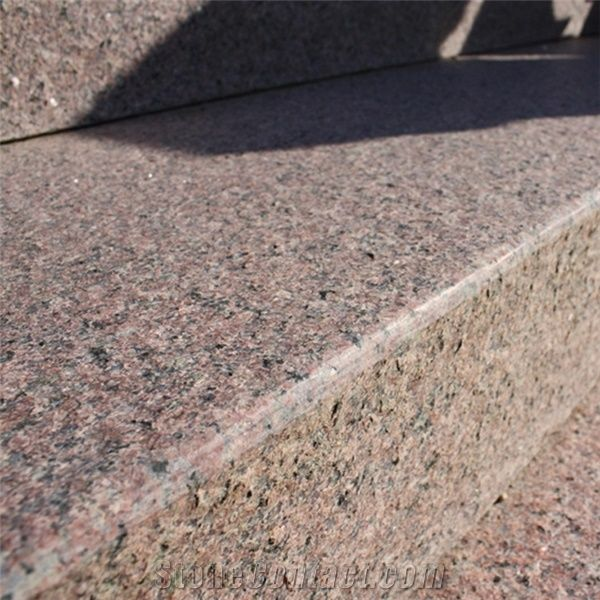 Sanxia Hong Red Granite Flamed Steps From China