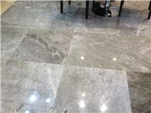 Silver Marble Pattern Polished