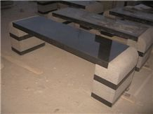 G654 Bench Chair, Granite & Stone Benches, G654 Black Granite Benches