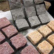 Granite Mesh Paver Cube Stone, Cobble Stone