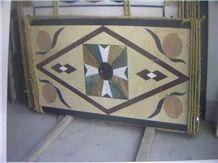 Retangle Marble Waterjet Medallion Tile Floor Medallions Home Depot