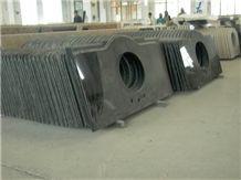 Shanxi Black Granite Vanity Tops, Pure Black Granite Countertops