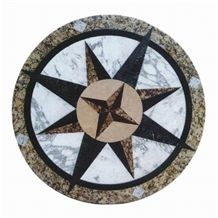 Waterjet Mosaics and Medallions for Floor