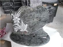 Western Style Monuments Heart Granite Headstone