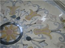 Marble Waterjet Medallion for Decoration