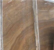 Wood Grain Yellow Marble