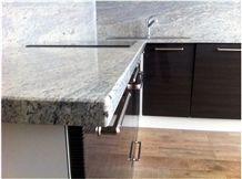 Granite Silver Sparkle Counter Top, Silver Sparkle Grey Granite Kitchen Countertops