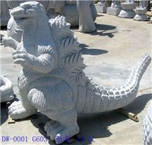 Granite Animal Sculpture Stone, Grey Granite Animal Sculpture