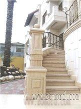 Jerusalem Stone Stairs, Jerusalem Cream Beige Limestone Stairs