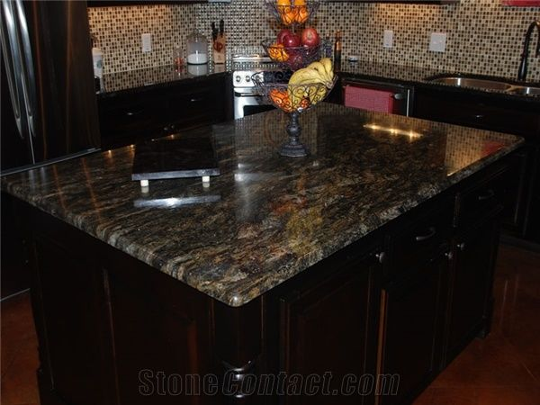 Exotic Brazil Granite Countertop Magma Gold Granite