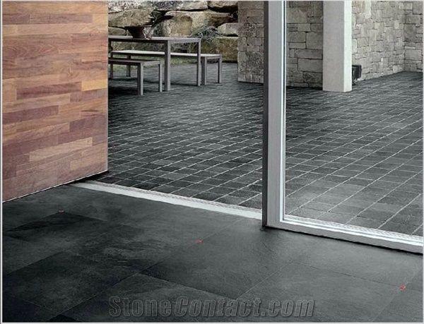 Black Slate Floor Tile Ardesia Liguria Tiles