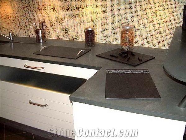 Ardesia Levigata Grey Slate Countertop From Italy