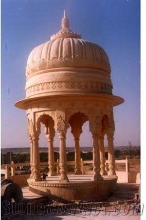 Chhatri Gazebo Mint Dhari Beige Sandstone Gazebo From