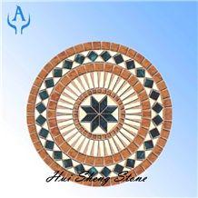 Floor Inlay Mosaic Medallion Parquet Decor