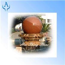 Granite Brown Fountain Ball