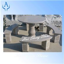 Grey Granite Bench&Table,Grey Granite
