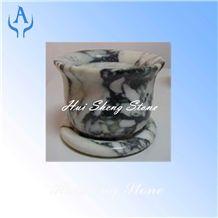 Multicolor Marble Flower Pot, Planter