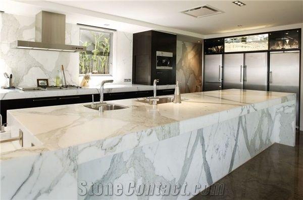 Statuary Marble Kitchen Design Statuary White Marble