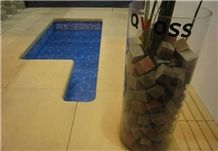 Borders and Swimming Pool Terraces, Arenisca Reina Yellow Sandstone Pool Terraces