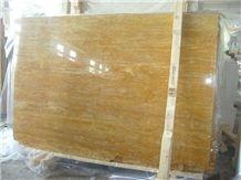 Mesta Golden Sienna Travertine Slabs, Turkey Yellow Travertine