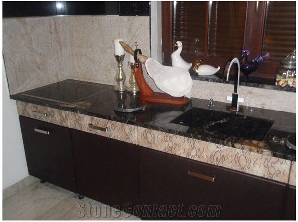 Black Forest Gold Kitchen Countertops Forest Gold Black Granite Kitchen Countertops From Poland Stonecontact Com