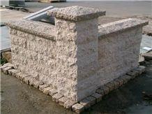 Granite Mushroom Wall Stones