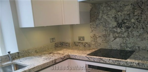 Arctic Cream White Granite Countertop From United Kingdom