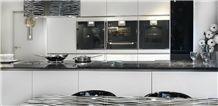 Silestone Tao and Matrix Granite Bespoke Worktop, Matrix Black Granite Kitchen Countertops