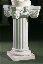 BEIJING White Marble Column