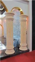 Egypt Creme Beige Limestone Column