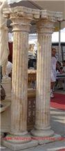 HY Beige Limestone Doric Column