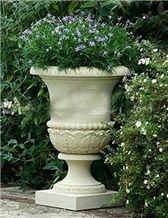 Garden Flower Pot, Beijing White Marble Flower Pot