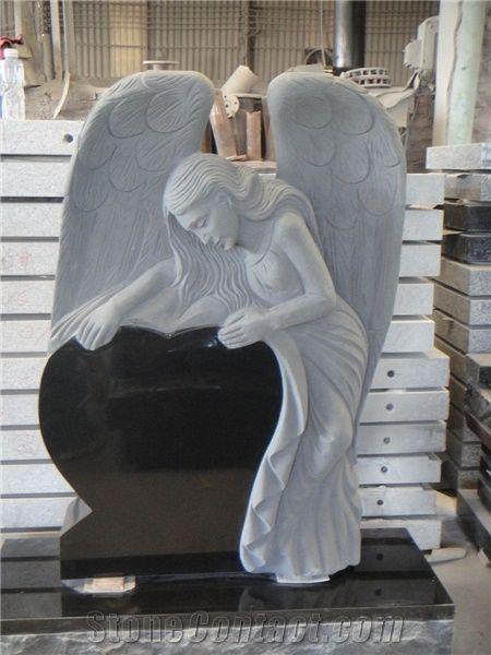 Shanxi Black Angel Monument From China Stonecontact Com