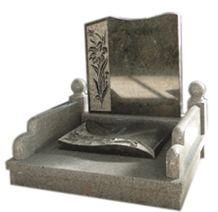 Grey Granite Korean Style Tombstone