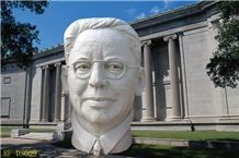 Head Granite Sculpture, White Granite Sculpture