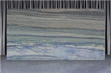 Azul Bochira Quartzite Slabs, Brazil Blue Quartzite