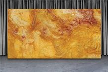 Calypso Gold Quartzite Slabs, Brazil Yellow Quartzite
