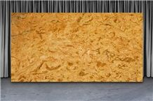Cloudy Gold Marble Slabs, India Yellow Marble